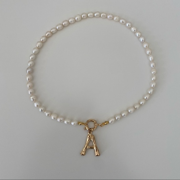 """A"" Pearl Necklace"